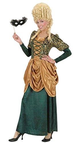 Karneval-Klamotten Viktorianisches Damen-Kostüm Barock Kostüm Damen Renaissance Herzogin grün Gold Damen-Kostüm Größe ()