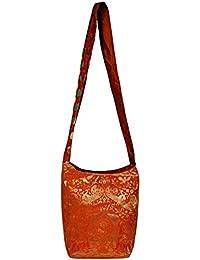 a13f4d1ab88e Vintage Handmade Elephant Work Design Jacquard Silk Ladise Shoulder Cross  Body Hippie Bag