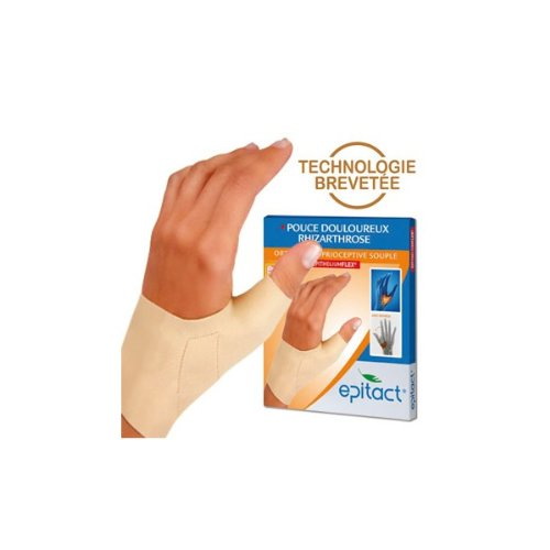 Epitact Supple Proprioceptive Orthosis Painful Thumb Left Hand - Size : Size M