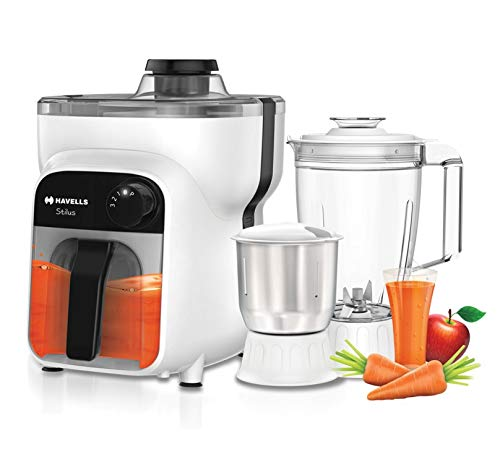 Havells Stilus 3 Jar 500-Watt Juicer Mixer Grinder (White/Black)