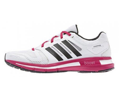 adidas Revenge Mesh W, Chaussures de running femme Blanc et rose