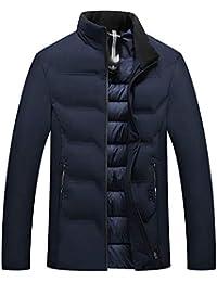 Bealeuy Herren Winterjacke Parka mit Lang Casual Style Mode Herren Herbst Winter Casual Pocket Button Thermische Lederjacke Top Coat