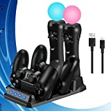 QAIYXM 2019 PS 4 Slim PRO PS Move Barra di Comando del Caricatore Charging Dock Station Play Station 4 Giochi PSVR Spostare PS4 Accessori