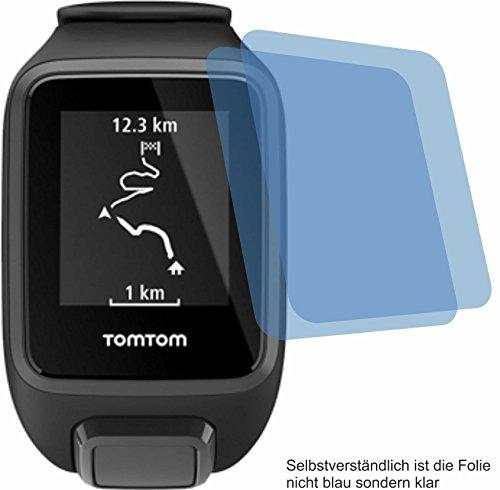 4ProTec 2X Crystal Clear klar Schutzfolie für Tomtom Runner 3 / Spark 3 Displayschutzfolie Bildschirmschutzfolie Schutzhülle Displayschutz Displayfolie Folie