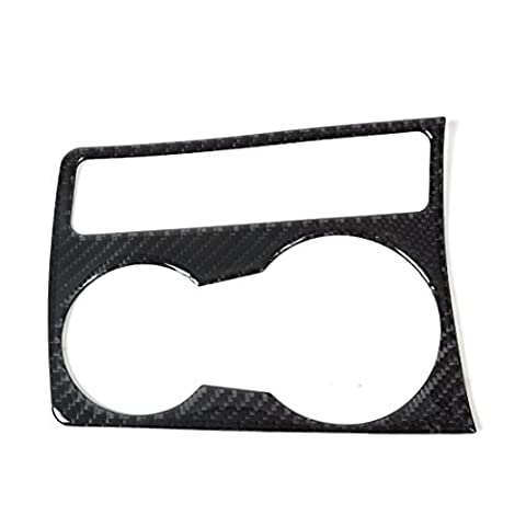 Car Interior Water Cup Holder Panel Carbon Fiber Decoration