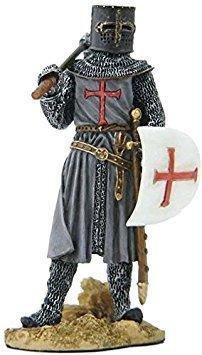 Unbekannt 9,9cm Gepanzerten Crusader Schild Halten und AXT Figur, Grau