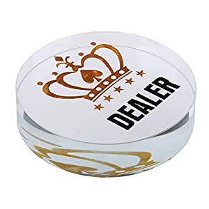 B Blesiya Chip Di Poker Moneta All-in Di Acrilico Corona Stampata - B