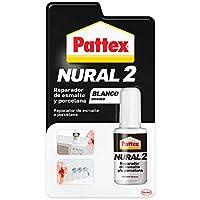 Pattex Nural 2 Reparador de esmalte y porcelana, esmalte permanente blanco para desconchados, golpes y rozaduras, esmalte profesional con múltiples aplicaciones, 1 x 50 g