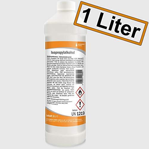 Isopropanol Isopropylalkohol 99,9{fb6a3581f77372b927dc9273723aca01a15afc43ea5255417106d089e0a2f908} 1000 ml (1 Liter) mit Sicherheitsverschluss & Flaschenausgießer/Spritzeinsatz für Haushalt Küche & Industrie