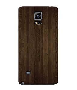 Fuson Designer Back Case Cover for Samsung Galaxy Note 4 :: Samsung Galaxy Note 4 N910G :: Samsung Galaxy Note 4 N910F N910K/N910L/N910S N910C N910Fd N910Fq N910H N910G N910U N910W8 (Wood Lakadi Antique Fashion Wood finish Dark Grey )