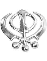 Universal Icons Khanda brooch for Sikh Turban 1.5 Inch