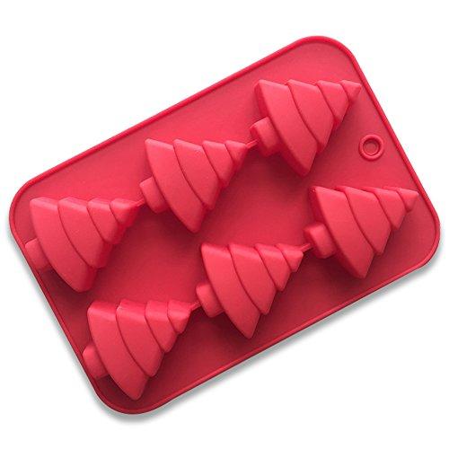 Silikon Backform Kuchen Formen Weihnachtsbaum Form Silikonform für Muffins, Kekse, Pralinen, Eiszapfen Kinder Geschenke zufällige Farben