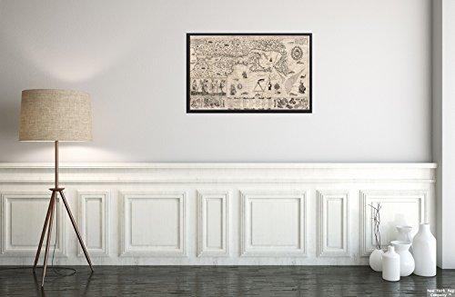 New York Map Company () 1613Karte Frankreich (ehemaligen Administrative) Carte geographique de la nouuelle Franse Carte|Historic Antik Vintage Reprint|Ready Zum Rahmen