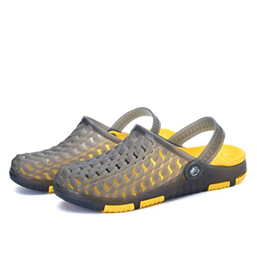Men's Sapato Masculino Hollow Casual Sandals 8810 gray