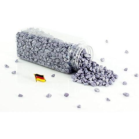 Granulado decorativo / Piedras decorativas ASLAN, color lila brillante, 5 - 10 mm, 605 ml bote, Producido en Alemania - Piedrecitas de colores - monsterkatz