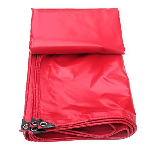 Voiles d'ombrage Tissu Enduit de PVC Rouge Tissu imperméable à l'eau Rollsnownow (Size : 4m*8m)