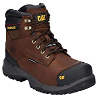 Caterpillar Spiro Dark Brown Boots Safety WP Leather S3