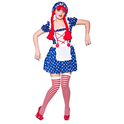 Cute Rag Doll Ladies Fancy Dress Costume Halloween