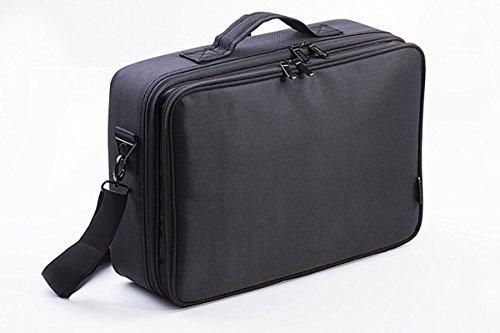 VOSMEP Schminktasche, 31*14*42 cm Große Kapazität, 3 Schicht Professional Makeup Tasche, ideal für Berufsverfassungs oder Ausgangsgebrauch Kosmetikkoffer Schwarz HB12