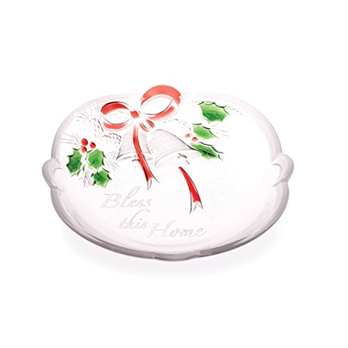 Crystal Candy Dish Bowl (Celebrations by Mikasa Holiday Bells 'Bless this Home' Sweet Dish, 7-Inch)