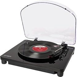 ION - Classic LP Platine Vinyle Convertisseur USB pour Mac & PC | Tourne-disque | Convertisseur de musique analogique au format numérique | Sorties RCA | Incl. Logiciel de conversion EZ Vinyl