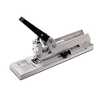 Novus B 54/3 Blockheftgerät (Bürohefter mit variabler Einlegetiefe bis 250 mm) 170 Blatt, lichtgrau/schwarz