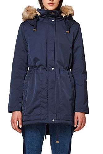 Esprit 088ee1g009, Manteau Femme, Bleu (Navy 400), Medium