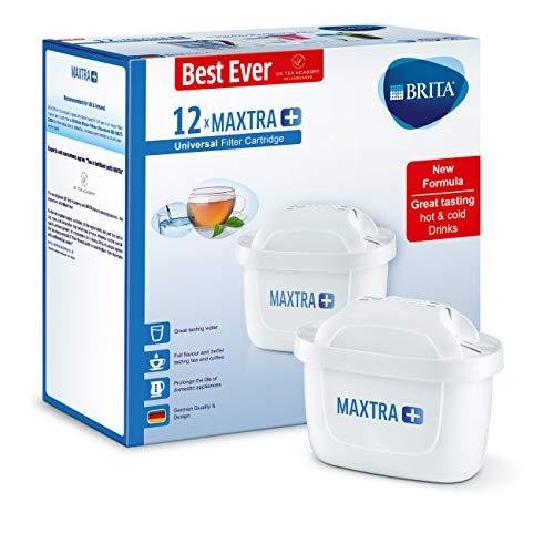 BRITA Maxtra+ Wasserfilter-Kartuschen, Weiß, Plastik, weiß, 12er-Pack