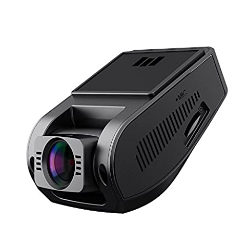 AUKEY Dash Cam Full HD 1080P, 170° Wide Angle Lens, Night Vision, Motion Detection, G-Sensor, WDR and Loop Recording, Mini DVR Camera Dashboard with 2 Ports Car Charger