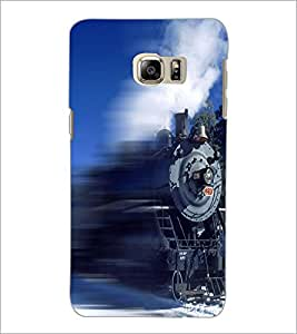 PrintDhaba Train D-5062 Back Case Cover for SAMSUNG GALAXY NOTE 5 EDGE (Multi-Coloured)