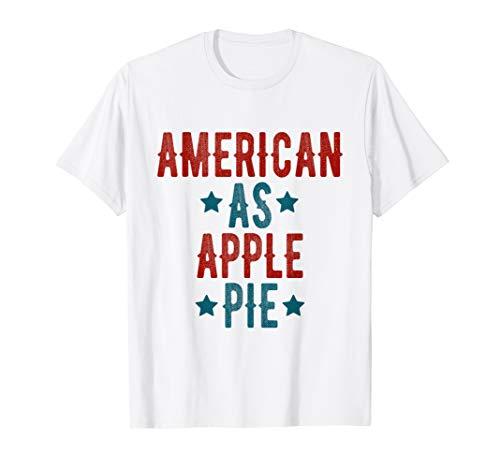 AMERIKA 4. JULI HEMDEN AMEREICAN ALS APFELKUCHEN T-Shirt (Niedlich, T-shirts Juli Vierter)