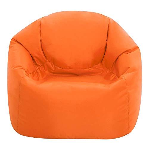 Bean Bag Bazaar® Chaise Pouf Moyen-Grande Taille pour Enfants pour Un Usage intérieur et extérieur de Chaises Pouf pour Enfants - Un Siège Fauteuil pour Enfant (Orange)