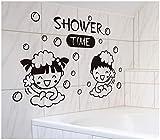 Gleecare Wandaufkleber Bad Badezimmer Fliesen Glas Aufkleber wasserdicht Wanddekoration Aufkleber paar schöne Bad