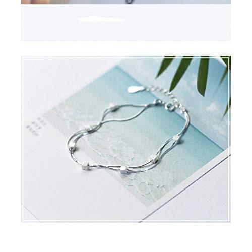 MXLYR 2019 925 Sterling Silber Square Double Layer Elegantes Armband für Frauen -