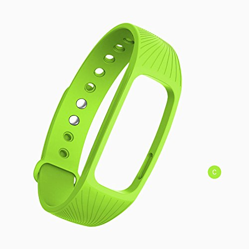 Beautyrain Silikon-Ersatzarmband für Fitness-Tracker - ID107 Smart-Armband Smart-Bandarmband für Uhrenarmbänder Silikonzubehör für ID 107 Smartband