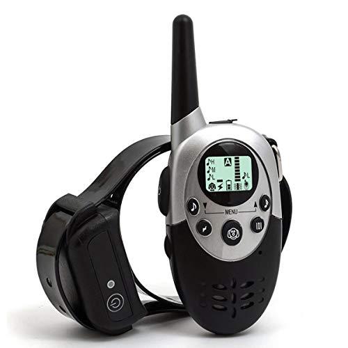 Feisui collare per addestramento cani, impermeabile, ricaricabile, con telecomando da 1000 m, completo di schermo lcd, facile da usare, addestra il tuo cane con due tipi di vibrazioni, con sonoro