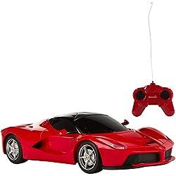 Rastar - Coche teledirigido 1:24, Ferrari Laferrari, rojo(ColorBaby 41153)