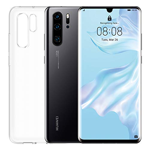 "Huawei P30 Pro Plus (Black) Smartphone + Cover Trasparente, 8GB RAM, Memoria 256 GB, Display 6.47"" FHD+, Processore Kirin 980, Quadrupla Fotocamera 40+20+8MP, Sensore TOF, SuperZoom 50x [Italia]"