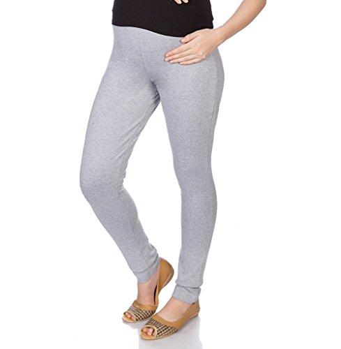 Goldstroms Women's Maternity Pant/Legging (Grey Milange, 2XL)