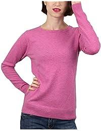 Pull 1st American 100% Cachemire col Ras du Cou - Pullover pour Femme Pure  Cachemire 21d296e9e3b
