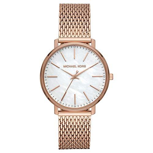 Michael Kors Damen Analog Quarz Uhr mit Edelstahl Armband MK4392