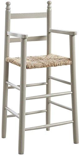 chaise-haute-pour-enfant-en-bois-laque-gris