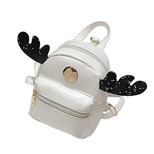 Dorical Kinderrucksack Mini Elk Antler Kinder Tasche Cute Umhängetasche, Kids Kid Handtaschen Mini Crossbody Bag Packet Kinderrucksack, Babyrucksack Schule Tasche Kleinkind Ausverkauf(Weiß) (Farbton Unterwäsche Frauen)