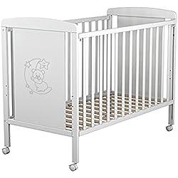 Cuna para bebé, modelo Oso Dormilón. Incluido el colchón (regalo sonatina)