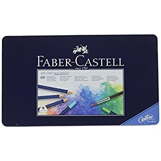 Faber-Castell Art Grip Aquarelle Tin Of 60