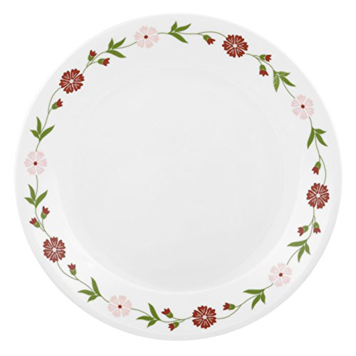 Corelle Livingware Spring Pink Vitrelle Glass Dinner Set, 21-Pieces, Multicolor