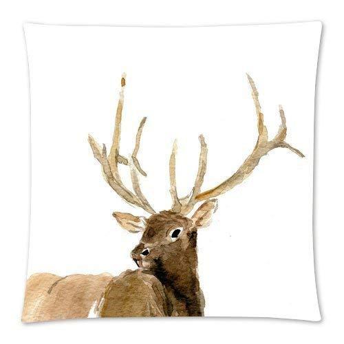 hdyefe GooDone personalisierte Throw Pillowcase 18 x 18 Türkis Aqua Blue Solid Trend Farbe Hintergrund Kissenbezug -