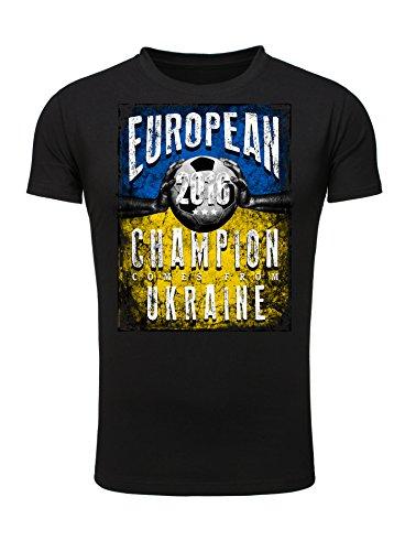 Legendary Items T-Shirt EUROPEAN CHAMPION 2016 Ukraine Printshirt Europameister EM Fußball Trikot Schwarz