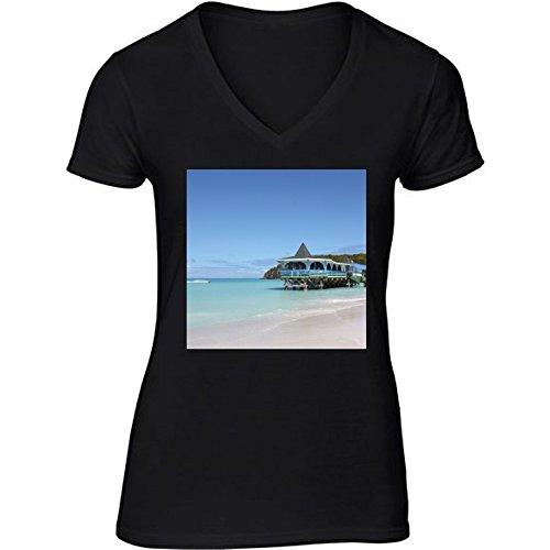 t-shirt-pour-femme-noir-col-v-taille-s-quai-des-caraibes-by-christine-aka-stine1