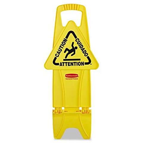 Floor Safety Signs - yellow stable safety sign w/caution imprint